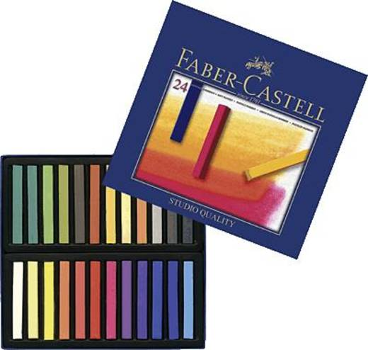 Pasztellkréta, 24 darab, Faber-Castell Goldfaber Studio 128324