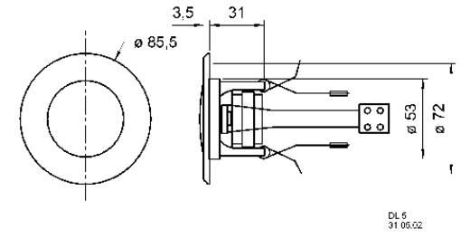 Mennyezetbe építhető hangszóró 5W/8Ω, fehér színű Visaton DL-5