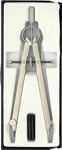 Körző, matt, nikkelezett, Ecobra 3754