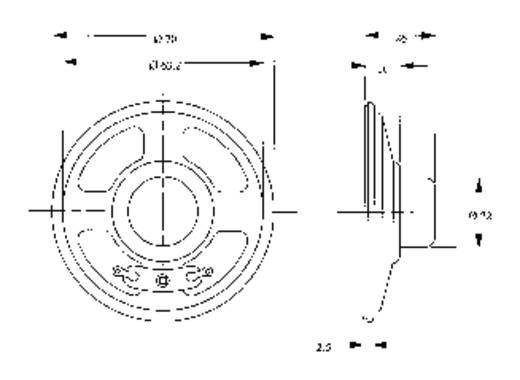Mini hangszóró LSM-70A 8 OHM