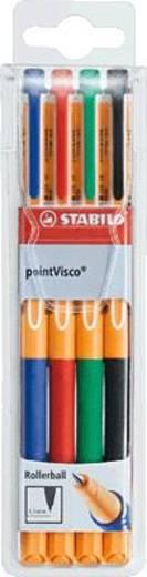 STABILO golyóstoll, pointVisco 4 db-os tartó/1099/4 szortírozva, 4 d