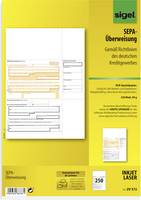 Sigel SEPA-Überweisung DIN A4 ATT.INT.NUMBER_SHEETS: 250 ZV572 (ZV572) Sigel