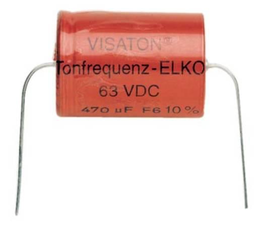 Hangfrekvenciás elko, elektrolit kondenzátor 470 µF 63V/DC Visaton vs-470-63