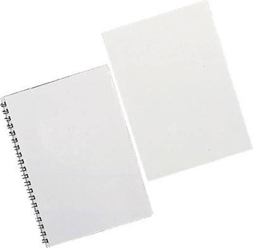 GBC ColorClear piros, átlátszó PVC borító fólia A4 méretben, vastagság: 180 micron, 100 db/csomag, GBC CE011830E