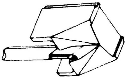 Gyémánt hangszedő tű GP 400/400 II 401/412