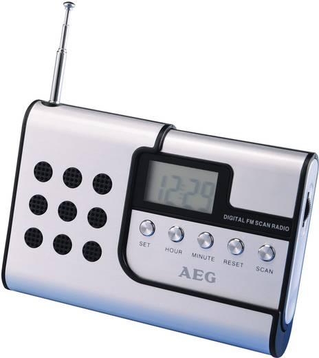 Úti rádió, zsebrádió, URH, alumínium, fekete, AEG DRR 4107
