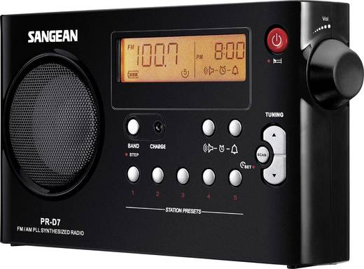 Sangean PR-D7 hordozható rádió fekete