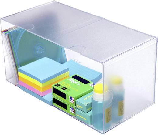 Irodai rendszerező, tároló Cube, dupla Üveg , Átlátszó 350501 Deflecto