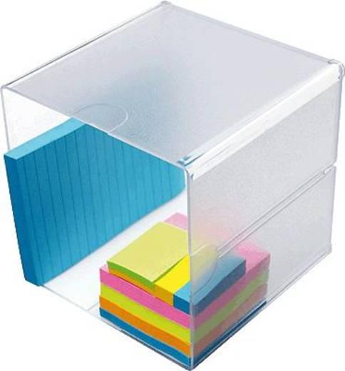 Irodai rendszerező, tároló Cube Üveg , Átlátszó 350401 Deflecto