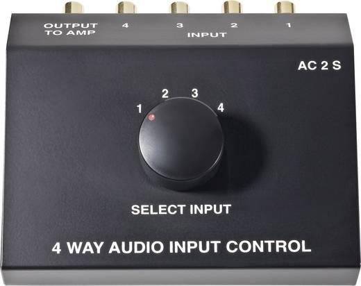RCA AV Átkapcsoló pult 4bemenet, 1kimenetes B-Tech AC2-S