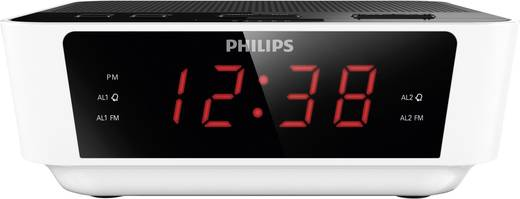 Philips AJ3115 Digitális asztali ébresztőóra, órás rádió fehér színben