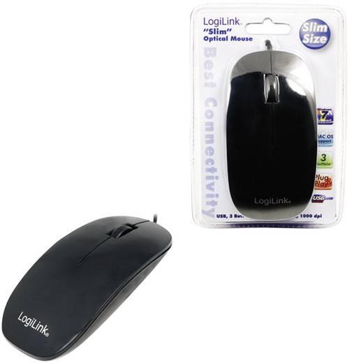 USB-s optikai egér, fekete, LogiLink ID0063