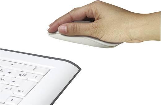 USB-s optikai egér, fehér Manhattan Silhouette