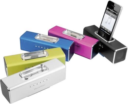 Zeneállomás iPhone/iPod készülékhez, ezüst színű, MusicMan® Docking, Technaxx Fekete