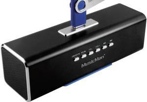 Hordozható zeneállomás, akkus zenelejátszó mikro SD, USB, audio bemenettel TECHNAXX MUSICMAN MA Technaxx