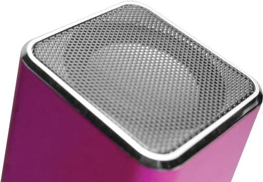 Hordozható zeneállomás, akkus zenelejátszó mikro SD, USB, audio bemenettel TECHNAXX MUSICMAN MA, pink