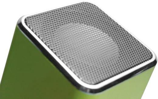 Hordozható zeneállomás, akkus zenelejátszó mikro SD, USB, audio bemenettel TECHNAXX MUSICMAN MA, zöld