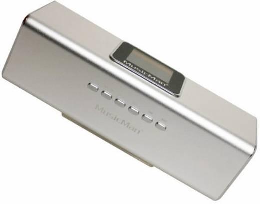 Zeneállomás MusicMan® MA, ezüst, Technaxx Hordozható mini hangfal, USB, mikroSD kártyanyílás, URH rádió Ezüst