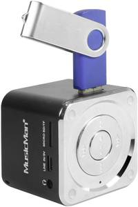 Hangszóró, mini zeneállomás, fekete, Technaxx MusicMan® Technaxx