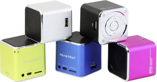 Hangszóró, mini zeneállomás, rózsaszín, Technaxx MusicMan®