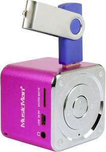 Hangszóró, mini zeneállomás, rózsaszín, Technaxx MusicMan® Technaxx
