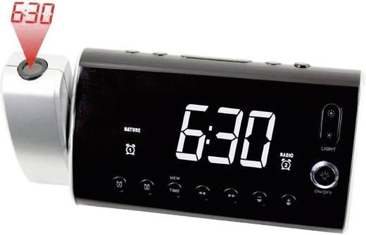 Rádiós kivetítős ébresztőóra fénnyel történő ébresztés funkcióval, UR1000
