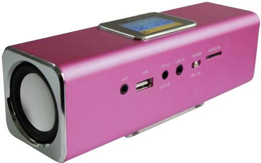 Zeneállomás, Technaxx MusicMan® MA, pink Hordozható mini hangfal, USB, mikroSD kártyanyílás, URH rádió Pink