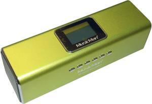 Zeneállomás, Technaxx MusicMan® MA, zöld Hordozható mini hangfal, USB, mikroSD kártyanyílás, URH rádió Zöld Technaxx