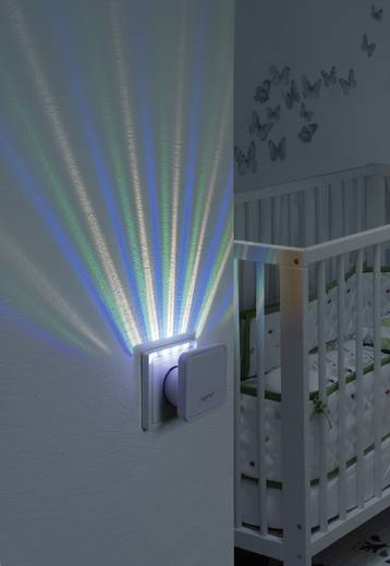 Konnektoros LED-es éjszakai fény váltakozó színekkel, alkonykapcsolóval, Lucca