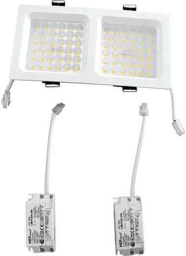 LED plafonfény (downlight) 2x9 W melegfehér