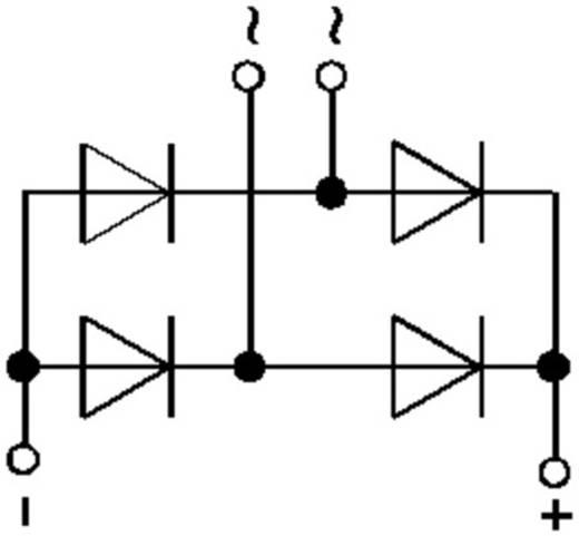 Teljesítmény hídegyenirányító, ház típus: SEMIPONT® 3, I(FSM 50Hz) 500 A, U(RRM) 1600 V, SKB Semikron SKB52/16