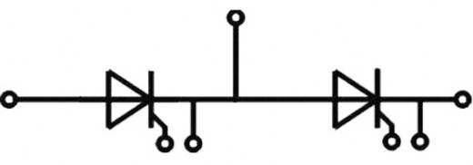 Tirisztor/dióda modul, SEMIPACK® 3, I(T) 273 A, U(DRM) 1600 V, SEMIPACK® Semikron SKKT273/16E