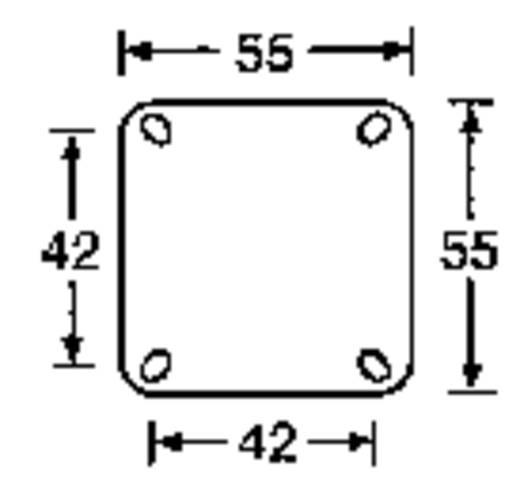 Forgó görgő, rack és hangfal görgő, tömörgumi kerékkel 1 pár Ø 50 mm McCrypt 304538