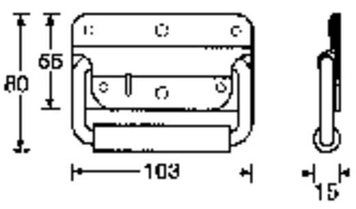 Hangfal, láda fogantyú, süllyesztett hordfül, fémből 103 x 80 mm 3412
