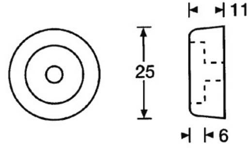 Mc Crypt műszer gumiláb Ø25x11mm, 8db