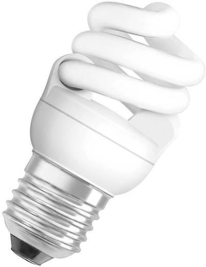 Energiatakarékos fényforrás, E27, 7W, melegfehér, spirál forma, OSRAM SUPERSTAR