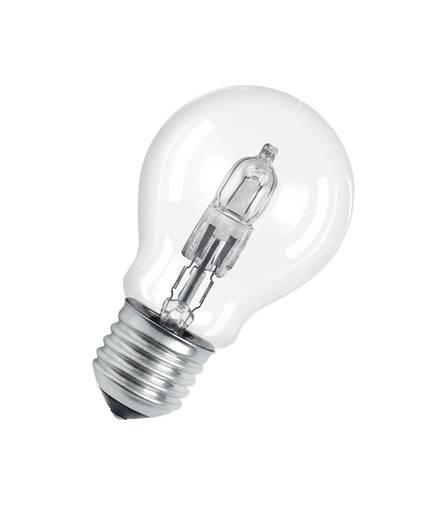 Halogén izzó, E27 116W=135W, melegfehér, izzólámpa forma, Osram ECO