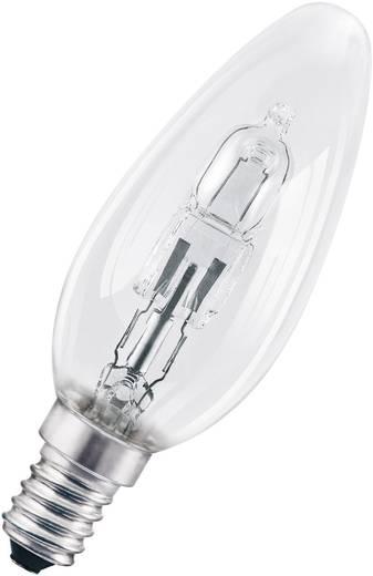 Halogén izzó, E14 30W, melegfehér, gyertyaforma, 2000 óra, Osram Eco