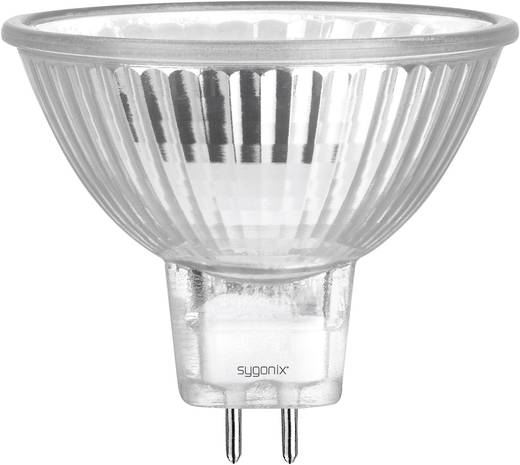 Eco halogén izzó MR16 GU5.3 50W=60W, Sygonix Melegfehér