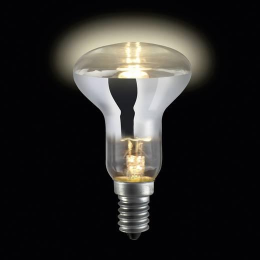 Nagyfeszültségű halogén izzó E14 28 W melegfehér, Sygonix