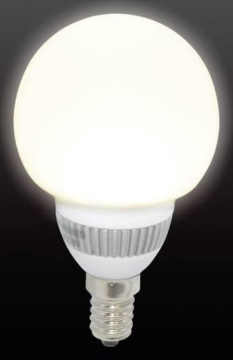 LED-es izzó E14 1.8W=20W meleg fehér, glóbuszformájú