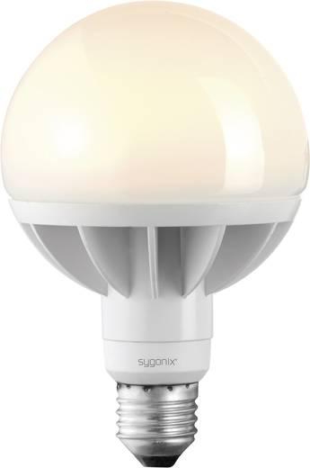 LED-es izzó, E27 12W=60W, melegfehér, gömb forma, sygonix