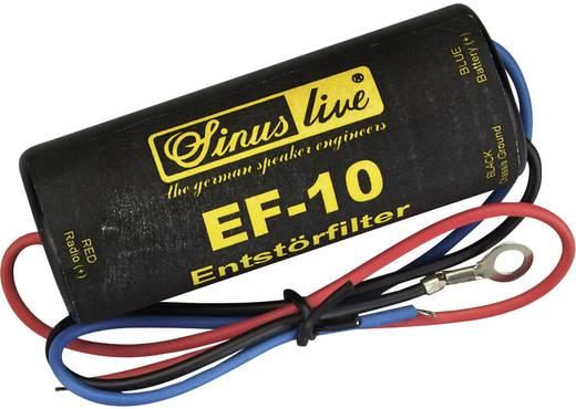 Autórádió zavarszűrő 12V 10A, Sinuslive EF-10