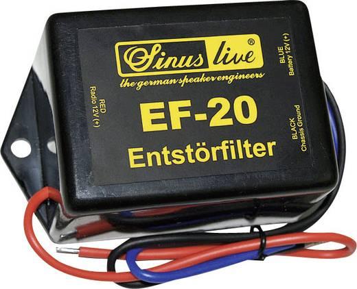 Autórádió zavarszűrő 12V 20A, Sinuslive EF-20
