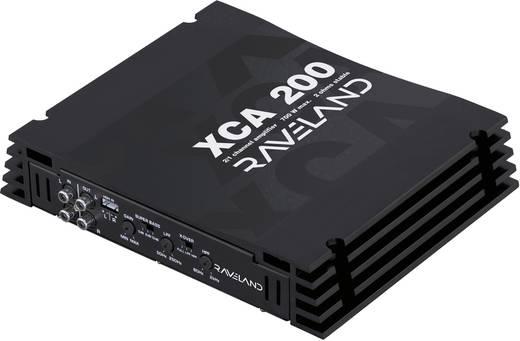 Végfokozat, 2 csatornás, Raveland XCA-200 Raveland 11862c2 2 csatornás, 10 - 50 000 Hz, 4 Ω, 2 x 150 W, Piros, 2 x 350 W
