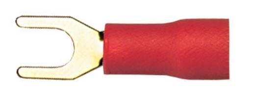 Félig szigetelt, aranyozott villás kábelsaru Ø 1,5/1,5 mm², piros, 10 db, Sinus Live
