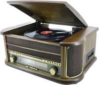 Nosztalgia sztereo zeneszekrény SoundMasterNR513A CD lejátszóval, lemezjátszóval, kazettás egységgel és URH/KH rádióval, soundmaster