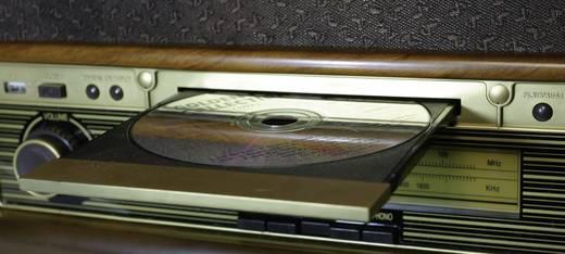 Asztali retro rádió, retro lemezjátszó, USB-s bakelit lemezjátszó beépített digitalizálóval, Roadstar HIF-1923TUMPK