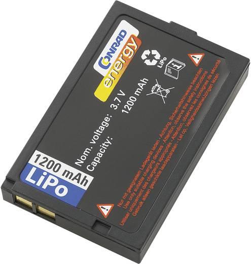 LiPo akku távirányító rendszerekhez, 3,7 V 1200 mAh