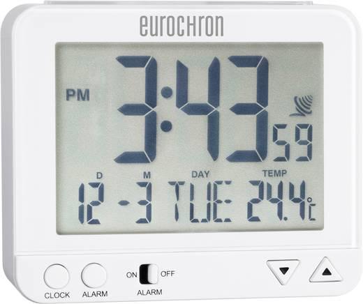 Rádiójel vezérelt digitális ébresztőóra 96 x 82 x 32 mm, fehér, Eurochron EFW 221